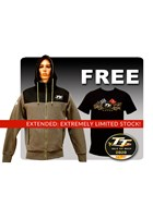 TT Hoodie Grey/Black with Free Gold Bikes T-Shirts and TT Pin