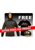 TT Quarter Zip Hoodie with Free Gold Bikes T Shirt and TT Pin