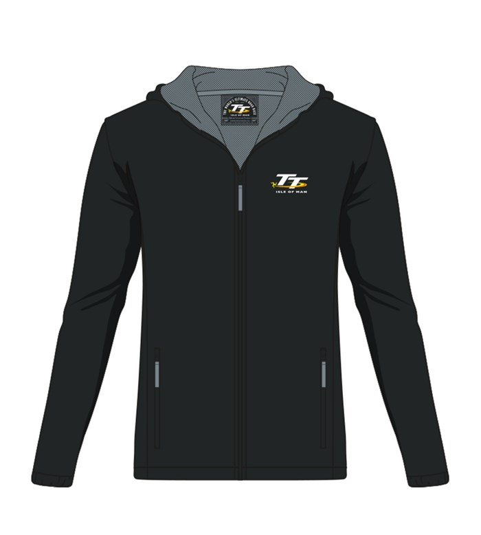 TT Lightweight Jacket Black/Grey Lining - click to enlarge