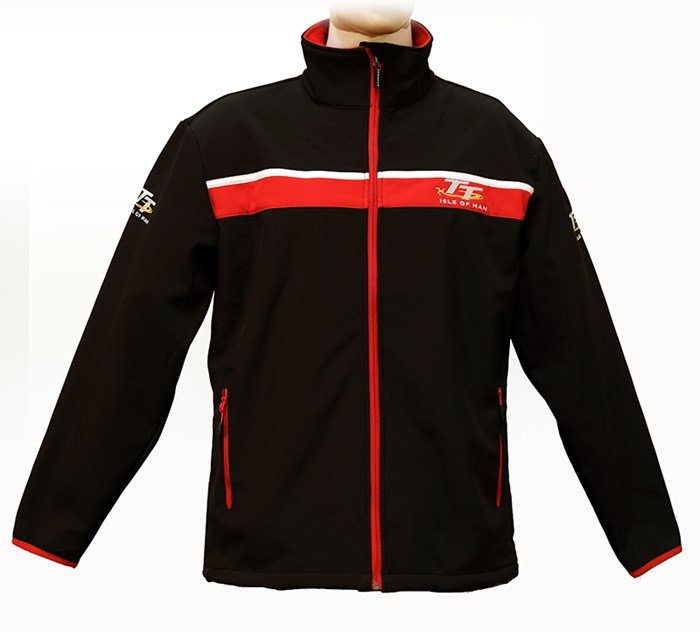 TT Soft Shell Jacket Black/Red - click to enlarge