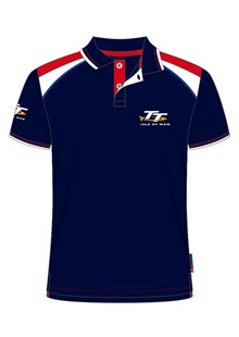 TT Polo Navy, Red and White Shoulders