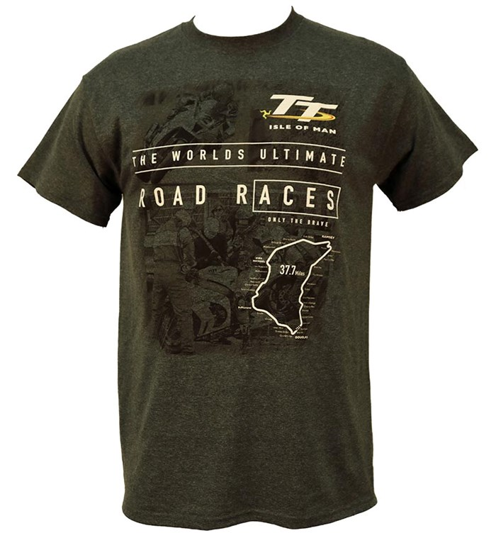 TT The Pits/Start Line T-Shirt Dark Heather - click to enlarge