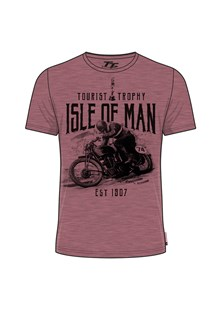 TT Vintage Bike 71 T-Shirt Raspberry