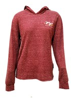 TT Ladies Lightweight Hoodie Raspberry Speckled