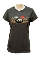 TT 2020 Ladies Gold Bike T-Shirt Dark Heather