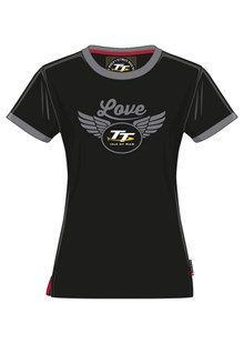TT Ladies Love T-Shirt Black/Grey