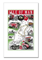 Isle of Man Tea Towel