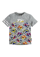 TT Coloured Bikes Baby T-Shirt Grey