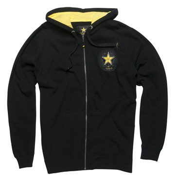 Rockstar Call to Arms Full Zip Hoodie Black - click to enlarge