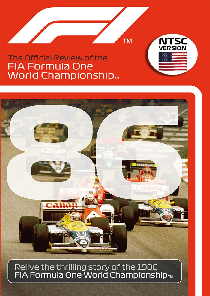 F1 1986 Official Review NTSC DVD