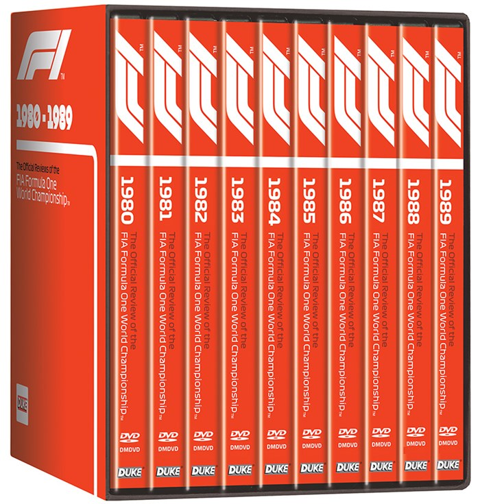 F1 1980-89 NTSC (10 DVD) Box Set
