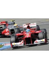 Fernando Alonso leads Lewis Hamilton Hockenheim 2012