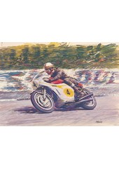 Mike Hailwood TT Legend Print - Ltd Ed by Hearsey