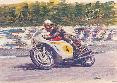 Mike Hailwood TT Legend Print - Ltd Ed by Peter Hearsey