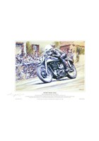 Geoff Duke TT Legend A4 Signed Print