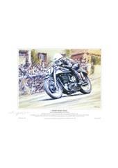 Geoff Duke TT Legend A4 Signed Print