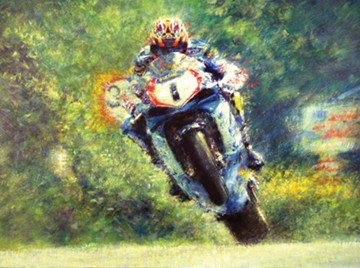 David Jefferies TT Legend Print - Limited Edition by Peter Hearsey - click to enlarge
