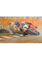 Great Racing Legends Carl Fogarty Print
