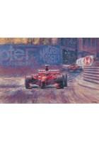 Great Racing Legends Michael Schumacher Print