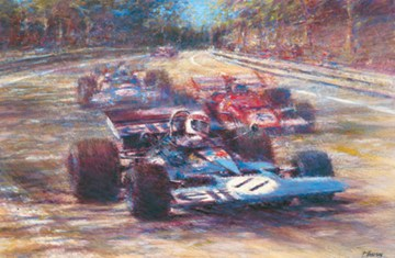 Great Racing Legends Jackie Stewart Print - click to enlarge