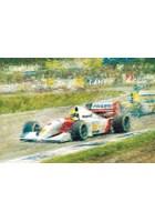 Great Racing Legends Ayrton Senna Print