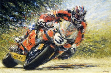John McGuinness TT Legend  Signed Print - click to enlarge