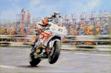 Guy Martin Signed Print - click to enlarge