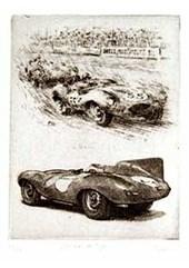 Jaguar D-Type Etching