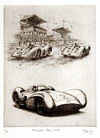 Mercedes-Benz W196 Etching
