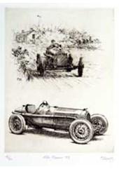 Alfa Romeo P3 Etching