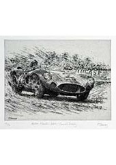 Aston Martin Dbr 1 Carroll Shelby Etching