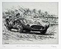 Aston Martin Dbr 1 Carroll Shelby Etching