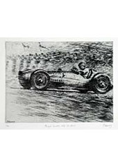 V16 BRM Fangio Etching