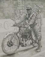 Jimmmy Simpson 1924 Rudge Etching