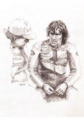 Joey Dunlop Paddock Talk Print