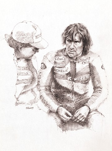 Joey Dunlop 1987 Paddock Talk Print - click to enlarge