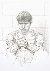Guy Martin Pencil Drawing Print