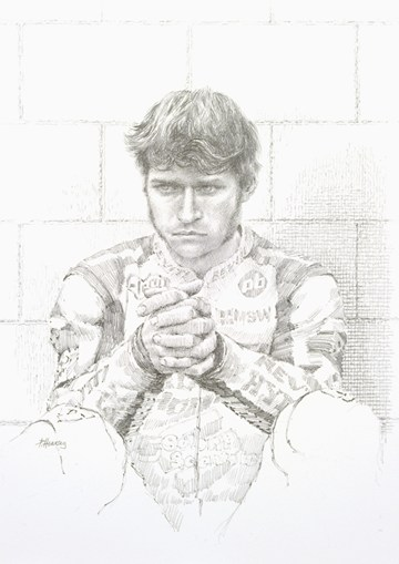 Guy Martin Pencil Drawing Print - click to enlarge
