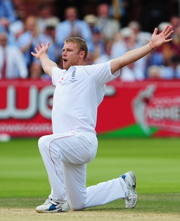 Ashes 2009 Flintoff A1 Canvas Print  - click to enlarge