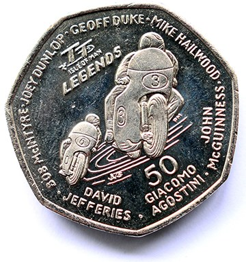 Isle of Man  2015 TT Legends 50p - click to enlarge