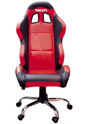 Team Chair Ducati Red with Black Trim