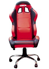 Team Chair Honda Red with Black Trim