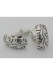 Silver Tyre Cufflinks Nos 016a