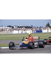 Senna hitches a lift with Mansell 1991 British GP , Canvas, A3