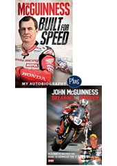 John McGuinness Built for Speed book & Breaking the Barrier DVD