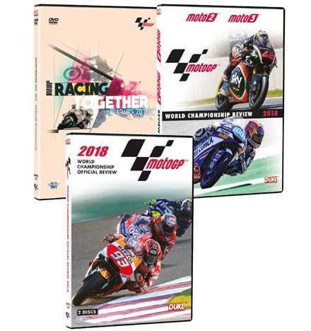 Racing Together DVD with MotoGP 2018 DVD & Moto 2/3 2018 DVD
