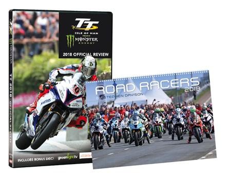 TT 2018 Review DVD & Road Racers 2019 Wall Calendar