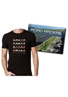 Road Racers 2021 Calendar and Classic Helmets T-Shirt
