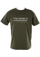 The Speed is Unbelievable T-Shirt Olive