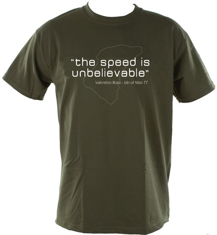 The Speed is Unbelievable T-Shirt Olive - click to enlarge